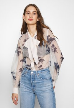 Never Fully Dressed - FORREST PRINT TIE NECK BLOUSE - Overhemdblouse - cream