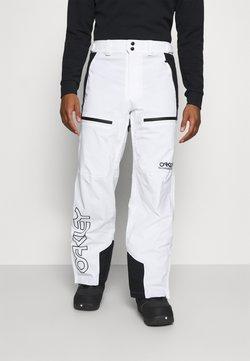 Oakley - LINED SHELL PANT - Spodnie narciarskie - white
