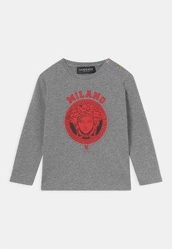 Versace - MEDUSA - Camiseta de manga larga - grigio melange/rosso