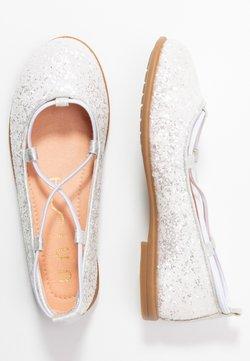 Unisa - SEIMY - Riemchenballerina - white glitter