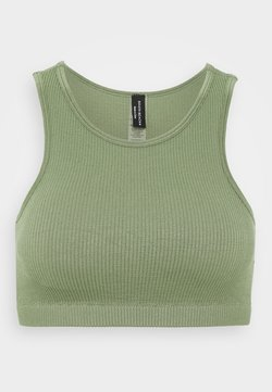 South Beach - SEAMLESS HIGH NECK MUSCLE BACK TANK - Sujetador deportivo - light green