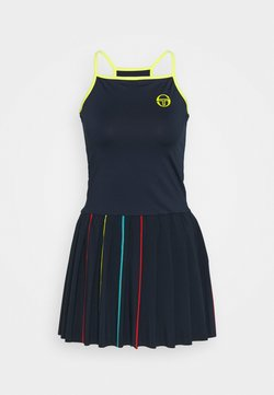 sergio tacchini - IRIS DRESS - Sukienka sportowa - navy/acid lime