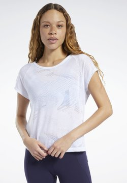 Reebok - BURNOUT TEE - T-Shirt print - white