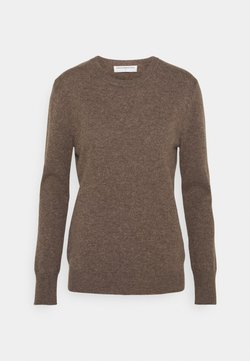 pure cashmere - CLASSIC CREW NECK  - Stickad tröja - heather brown