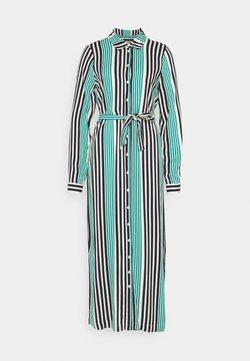 Vero Moda Tall - VMNIVA SHIRT DRESS  - Maxikleid - navy blazer/parasailing/birch