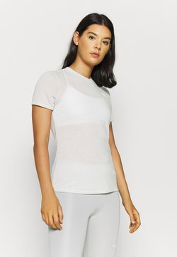 The North Face - W ACTIVE TRAIL WOOL  - T-Shirt print - tin grey heather