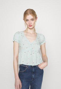 Hollister Co. - BABYDOLL  - Bluse - mint floral