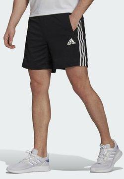 adidas Performance - PRIMEBLUE DESIGNED TO MOVE SPORT 3-STRIPES SHORTS - kurze Sporthose - black