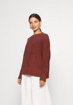 Selected Femme Petite - SLFBAILEY SLIT O NECK - Jersey de punto - red