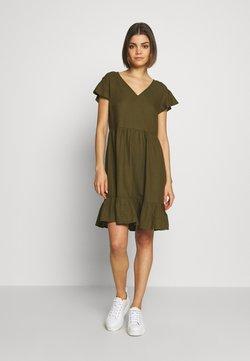 Vila - VINASRIN VNECK DRESS - Sukienka letnia - dark olive