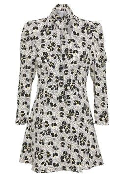 Topshop Petite - TIE NECK MINI DRESS - Vestido informal - ivory