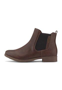 TOM TAILOR - Boots à talons - cognac