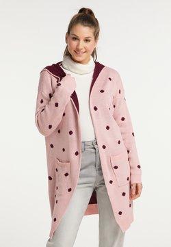 myMo - Strickjacke - rosa bordeaux