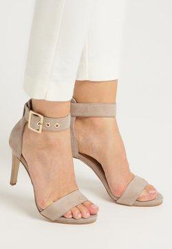 DreiMaster - Sandalen met hoge hak - taupe