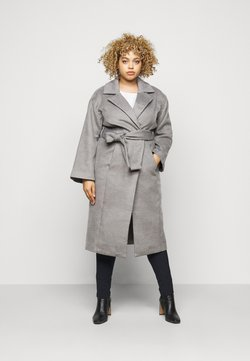 CAPSULE by Simply Be - BELTED WRAP COLLAR COAT - Manteau classique - grey