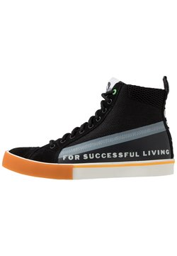 Diesel - S-DVELOWS MID - Sneaker high - black/sprout green