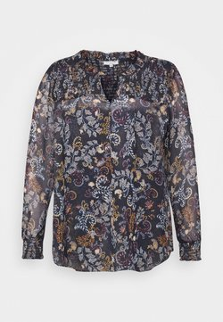 MY TRUE ME TOM TAILOR - BLOUSE WITH SMOCKING DETAILS - Bluse - navy