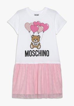 MOSCHINO - DRESS - Jerseykleid - white/pink