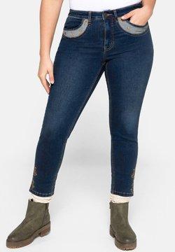 Sheego - Jeans Skinny Fit - dark blue denim