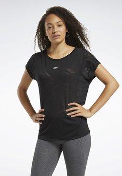 Reebok - BURNOUT TEE - Camiseta estampada - Black