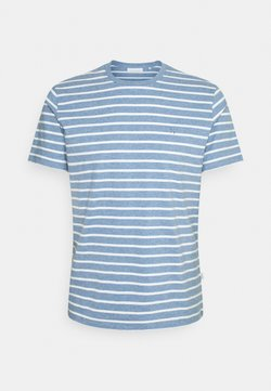 Casual Friday - THOR STRIPED - T-shirt con stampa - true navy