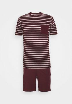 Pier One - Pyjama - bordeaux/white