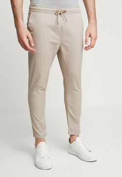 Solid - TRUC CROPPED - Stoffhose - sand