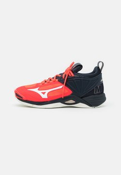 Mizuno - WAVE MOMENTUM 2 - Indoorskor - ignition red/white/salute