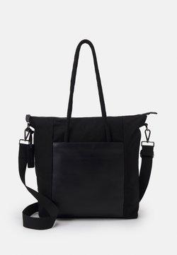 Zign - LEATHER UNISEX - Shoppingväska - black