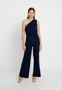 Adrianna Papell - ONE SHOULDER BOOT-CUT JUMPSUIT - Combinaison - dusty emerald