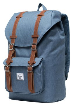 Herschel - LITTLE AMERICA - Tagesrucksack - blue mirage crosshatch/tan synthetic leather [03513]