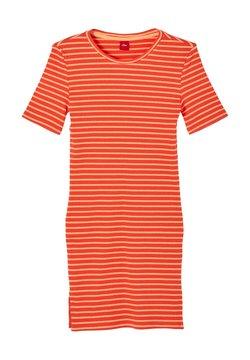 s.Oliver - JURK - Strickkleid - orange stripes