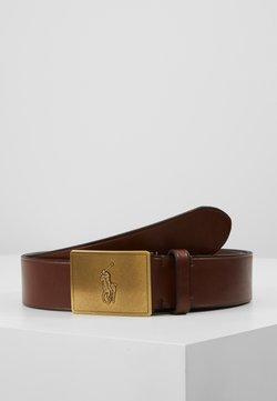 Polo Ralph Lauren - PLAQUE BELT - Belte - brown