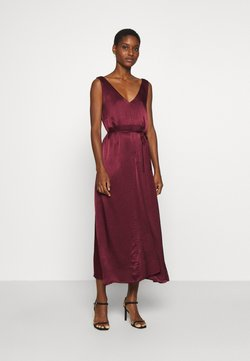 Soft Rebels - SRSHANIA MIDI DRESS - Suknia balowa - tawny port