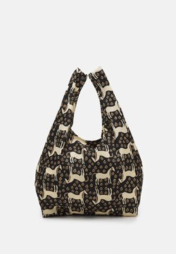 Marimekko - SMARTBAG MUSTA TAMMA - Shopping bag - black/beige/orange