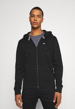 Tommy Jeans - REGULAR ZIP HOOD - veste en sweat zippée - black