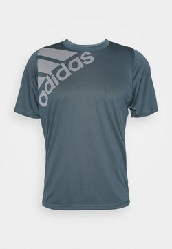 adidas Performance - T-Shirt print - dark blue