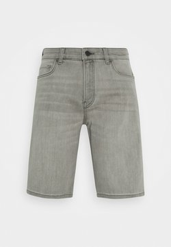 Marc O'Polo DENIM - 5-POCKET TAPERED FIT LOW WAIST LOW CROTCH TAPE - Shorts di jeans - light grey