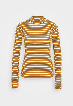 Scotch & Soda - LONG SLEEVE WITH TURTLE NECK  - Langarmshirt - brown/yellow