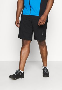 LÖFFLER - BIKE SHORTS COMFORT 2-IN-1 - kurze Sporthose - black/brilliant blue