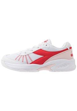 Diadora - S. CHALLENGE 3 JR UNISEX - Tennisschoenen voor alle ondergronden - white/lively hibiscus red