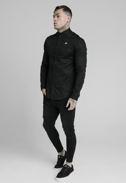 SIKSILK - STANDARD COLLAR SHIRT - Businesshemd - black