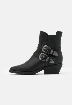 Superdry - BUCKLE BOOT - Botki kowbojki i motocyklowe - black