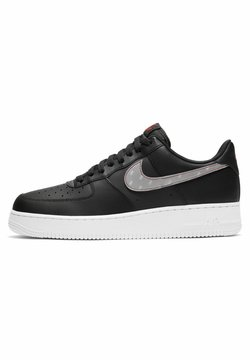 Nike Sportswear - AIR FORCE - Sneaker low - black/anthracite/university red/silver