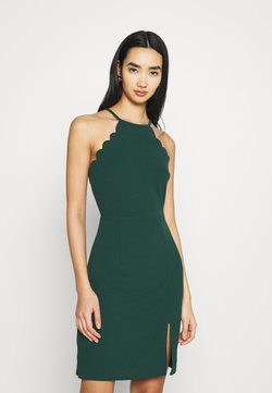 WAL G. - YELDA SCALLOP NECK MINI DRESS - Cocktailkleid/festliches Kleid - forest green