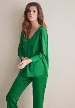 Falconeri - AUS SEIDENSATIN - Bluse - grün - 8581 - verde prato
