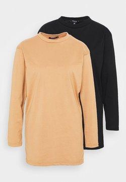 Missguided Petite - BASIC DRESS 2 PACK - Jerseykleid - black