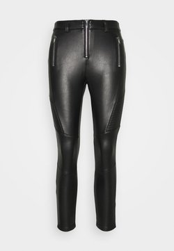 Topshop Petite - FLISS BIKER  - Leggings - Trousers - black