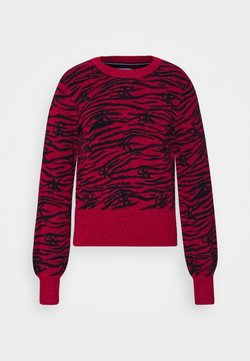 Calvin Klein Jeans - ZEBRA  - Strickpullover - red hot