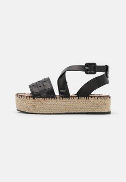 Shabbies Amsterdam - Korkeakorkoiset sandaalit - black